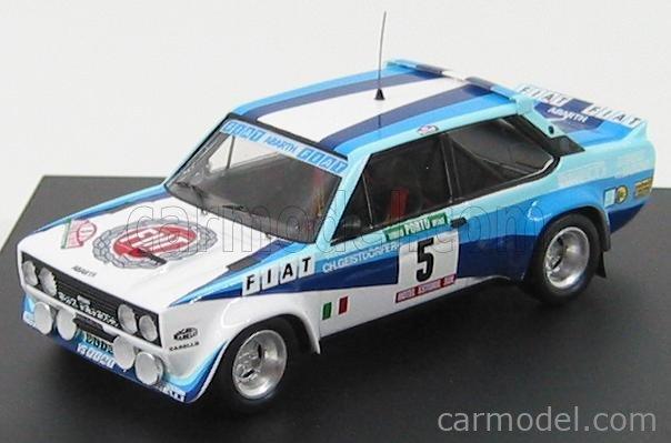TROFEU TRF1402 Scale 1/43  FIAT 131 ABARTH WORKS OLIO FIAT N 5 WINNER RALLY PORTUGAL 1980 W.ROHRL - C.GEISTDORFER WHITE BLUE