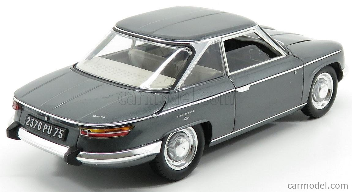 NOREV 184502 Scale 1/18  PANHARD 24CT COUPE 1964 GREY MET