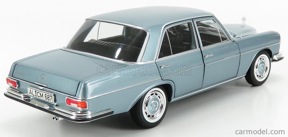 Mercedes Benz 280SE 1968 Light blue met 1:18 Norev