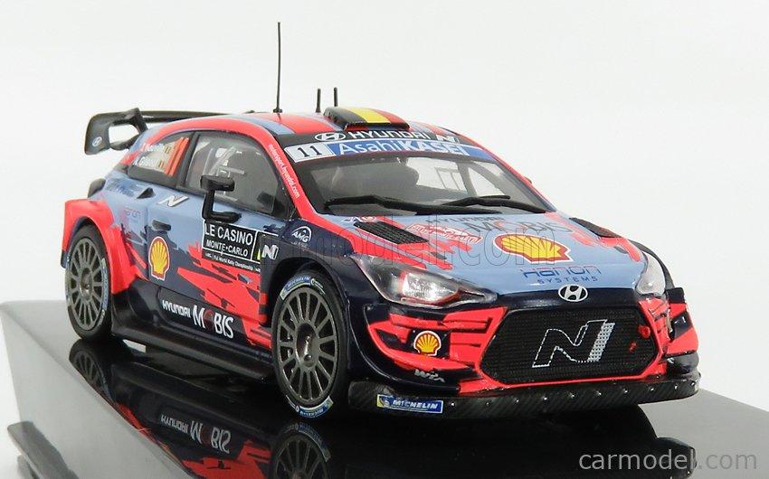 IXO-MODELS RAM743 Scale 1/43  HYUNDAI i20 WRC N 11 WINNER RALLY MONTECARLO 2020 THIERRY NEUVILLE - NICOLAS GILSOUL 2 TONE BLUE RED