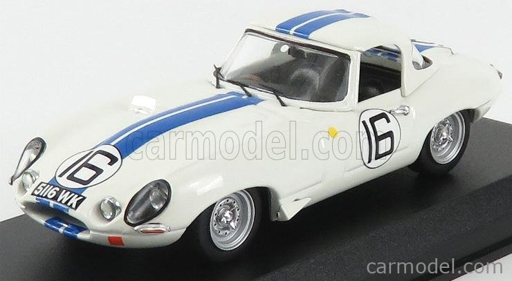 BEST-MODEL 9205/2 Scale 1/43  JAGUAR E-TYPE 3.8L TEAM BRIGGS CUNNINGHAM N 16 24h LE MANS 1963 R.SALVADORI - P.RICHARDS WHITE BLUE