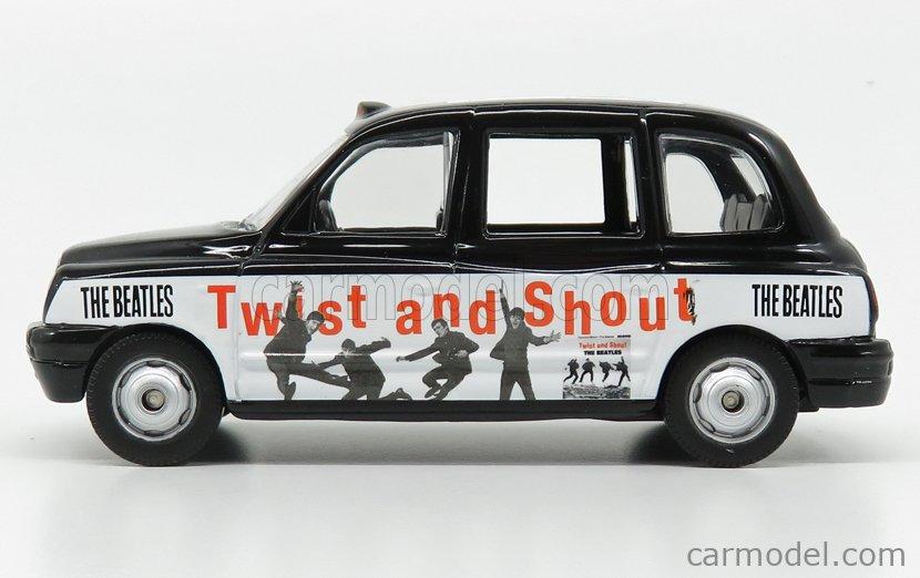 CORGI CC85927 Echelle 1/36  AUSTIN LONDON TAXI LTI TX4 2007 - THE BEATLES - TWIST AND SHOUT BLACK WHITE