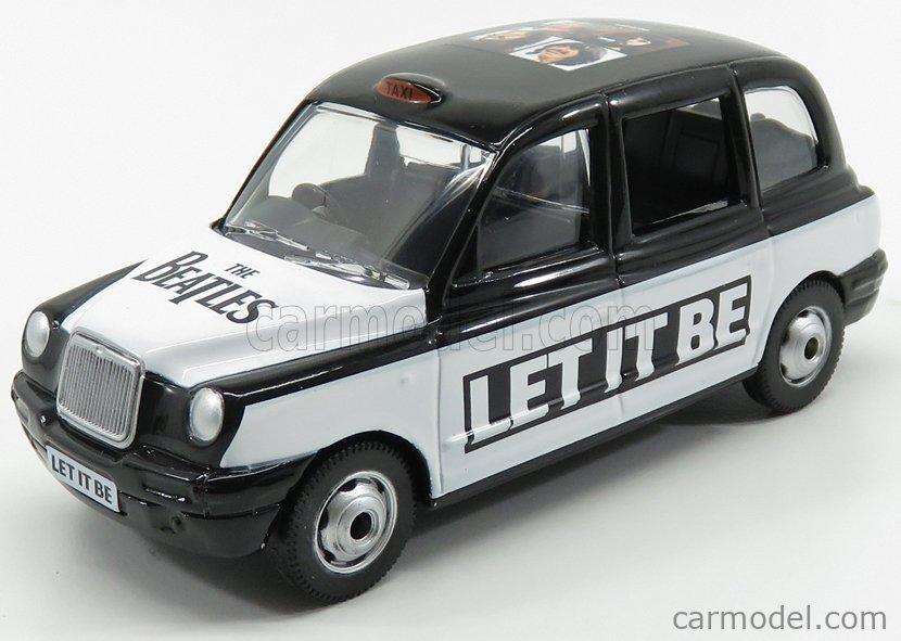 CORGI CC85926 Echelle 1/36  AUSTIN LONDON TAXI LTI TX4 2007 - THE BEATLES - LET IT BE WHITE BLACK
