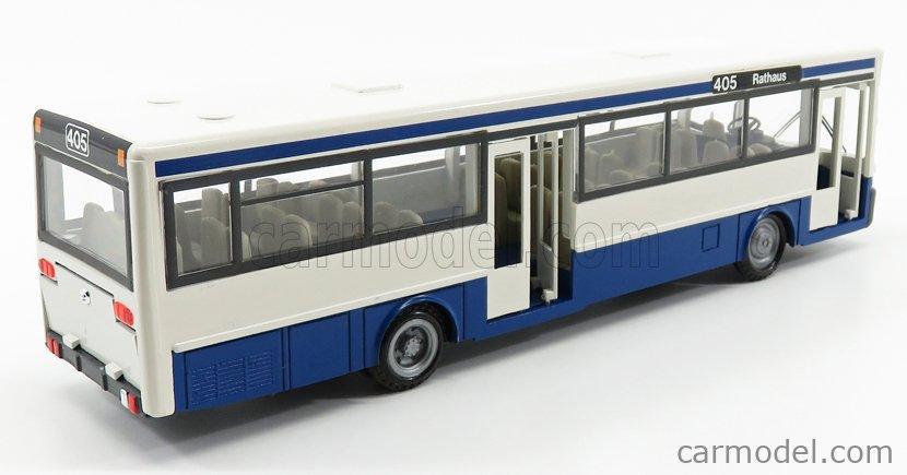 NZG 4401 Masstab: 1/50  MERCEDES BENZ O405 AUTOBUS RATHAUS 1983 WHITE BLUE