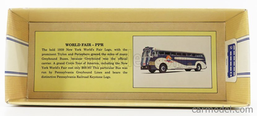 CORGI 98460 Scala 1/50  YELLOW COACH 743 AUTOBUS KINGSTONE GREYHOUND LINES 1949 GREEN WHITE