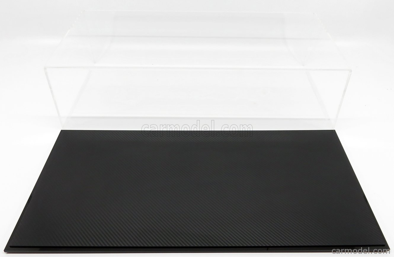 ATLANTIC ATL10311 Masstab: 1/8  VETRINA DISPLAY BOX STUTTGART BASE EFFETTO FIBRA DI CARBONIO NERA - CARBON FIBER EFFECT BASE BLACK - Lungh.LENGHT cm 65.0 X Largh.WIDTH cm 31.0 X Alt.HEIGHT cm 17.5 (altezza interna cm 17.0) PLASTIC DISPLAY