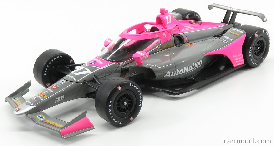 GREENLIGHT 11079 Echelle 1/18  HONDA TEAM ANDRETTI AUTOSPORT RACING N 27 INDIANAPOLIS INDY 500 SERIES 2020 A.ROSSI PINK GREY BLACK
