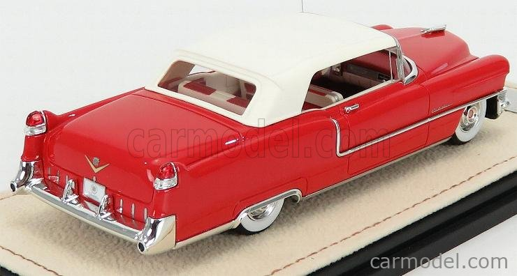 STAMP-MODELS STM55302 Scale 1/43  CADILLAC SERIES 62 CABRIOLET CLOSED 1955 DAKOTA RED