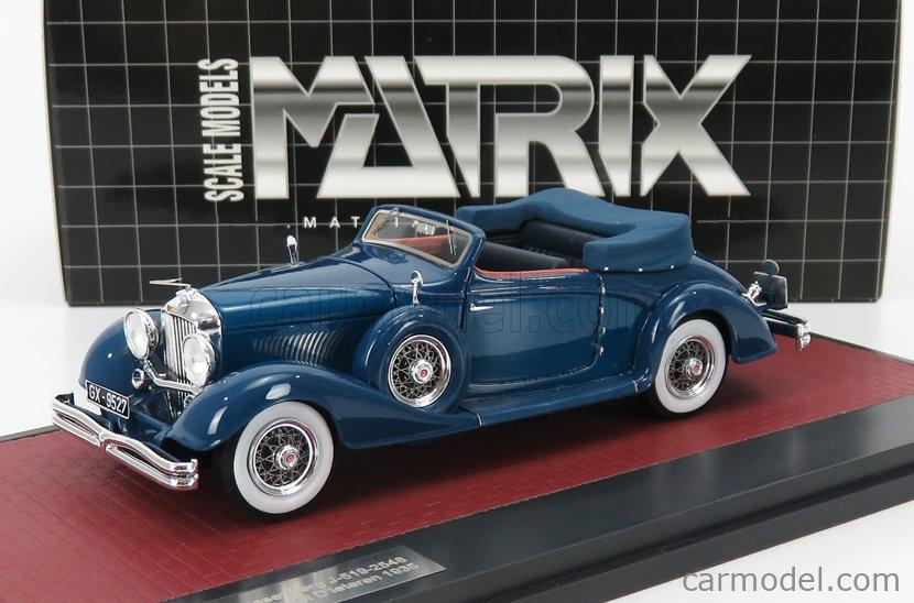 MATRIX SCALE MODELS MX40406-081 Scale 1/43  DUESENBERG J-519-2548 CABRIOLET D'IETEREN OPEN 1935 BLUE
