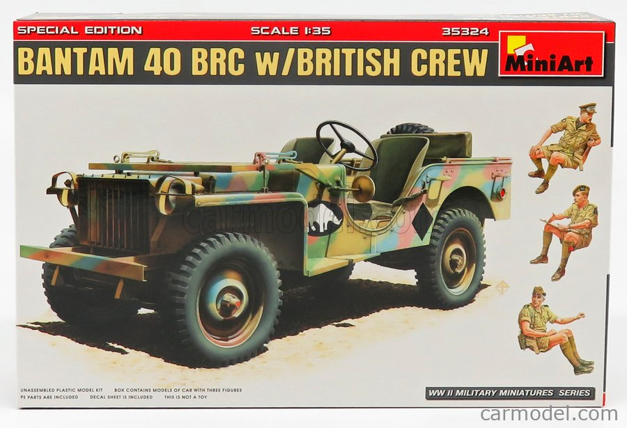 MINIART 35324 Masstab: 1/35  JEEP BANTAM BRC40 BRITISH CREW MILITARY 1940 /