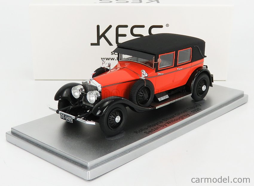 KESS-MODEL KE43049020 Scale 1/43  ROLLS ROYCE SILVER GHOST TILBURY SEDAN BY WILLOUGHBY 1926 ORANGE BLACK