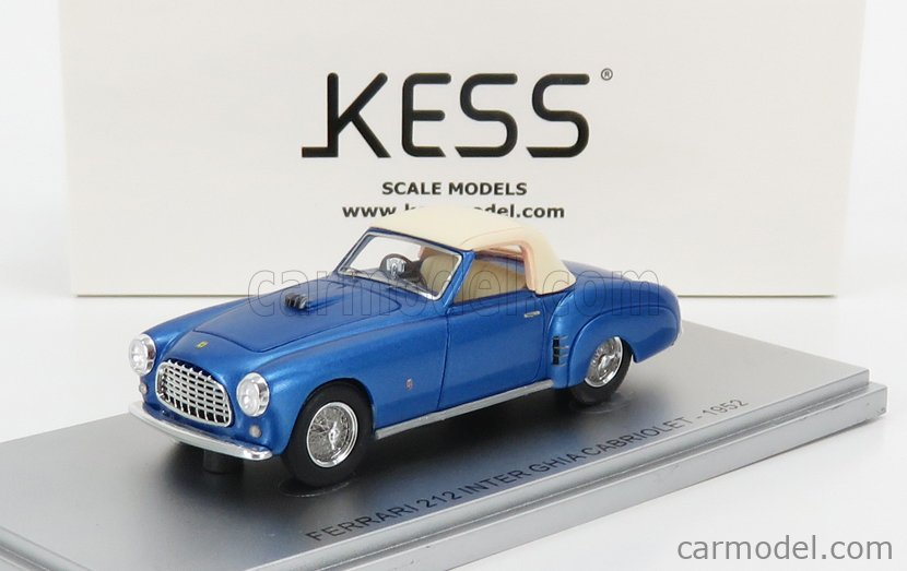 KESS-MODEL KE43056011 Масштаб 1/43  FERRARI 212 INTER GHIA ch.0233eu CABRIOLET CLOSED 1952 BLUE MET