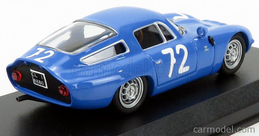 BEST-MODEL 9783 Scale 1/43  ALFA ROMEO TZ1 N 72 TARGA FLORIO 1965 PANEPINTO - PARLA BLUE