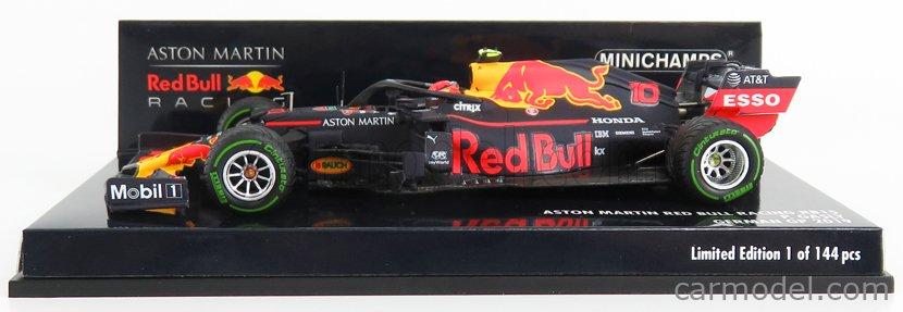 MINICHAMPS 410191110 Масштаб 1/43  RED BULL F1  RB15 TEAM ASTON MARTIN N 10 GERMAN GP 2019 P.GASLY MATT BLUE YELLOW