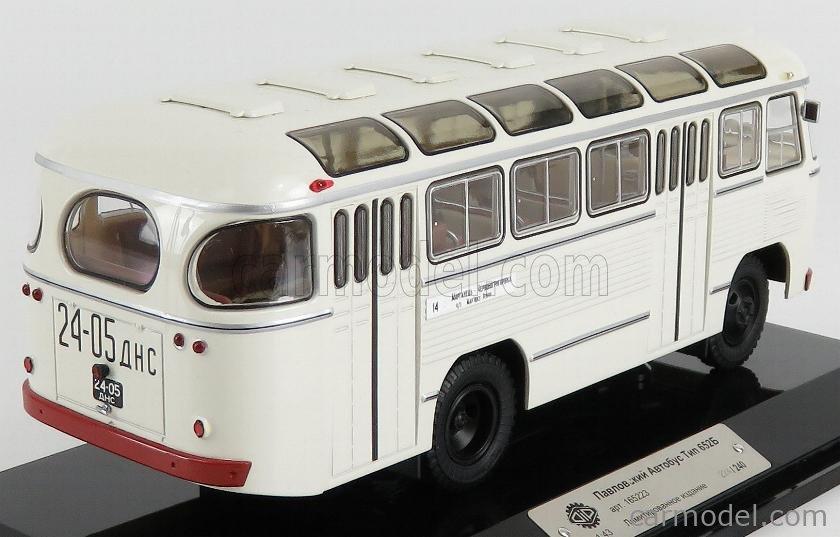 SPARK-MODEL 165223 Scale 1/43  PAZ 652B AUTOBUS 1967 WHITE