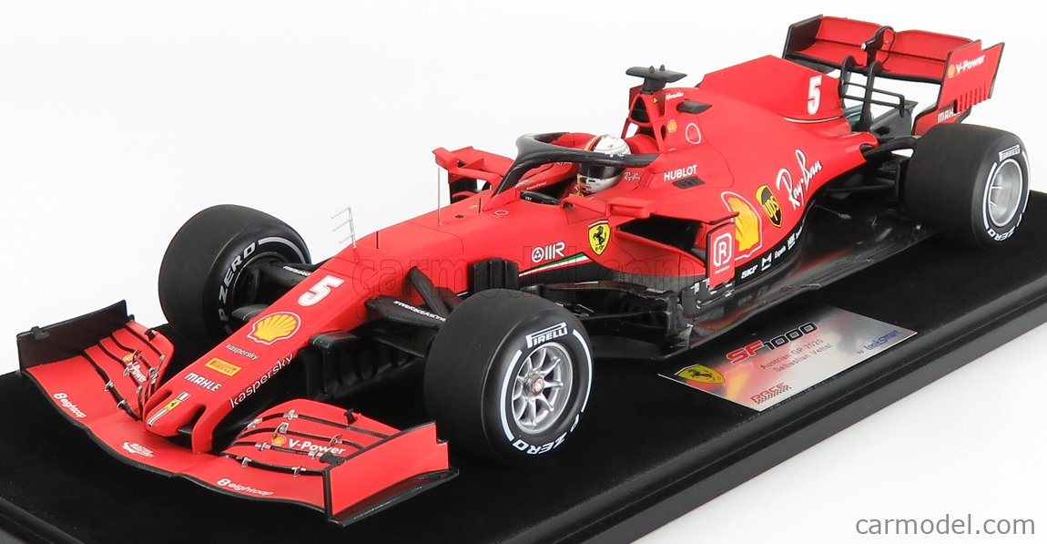 LOOKSMART LS18F1030 Scala 1/18  FERRARI F1  SF1000 TEAM SCUDERIA FERRARI MISSION WINNOW N 5 10th AUSTRIAN GP 2020 SEBASTIAN VETTEL MATT RED