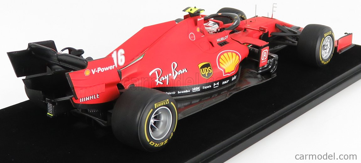 LOOKSMART LS18F1029 Scale 1/18  FERRARI F1  SF1000 TEAM SCUDERIA FERRARI MISSION WINNOW N 16 2nd AUSTRIAN GP 2020 CHARLES LECLERC MATT RED