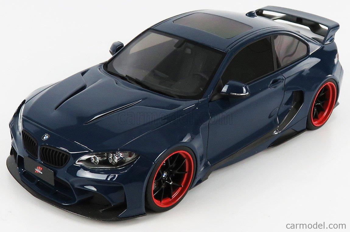 GLM-MODELS GLM188013 Masstab: 1/18  BMW 2-SERIES M235 DARWINPRO MTC BLACK SAILS WIDEBODY 2015 BLUE MET
