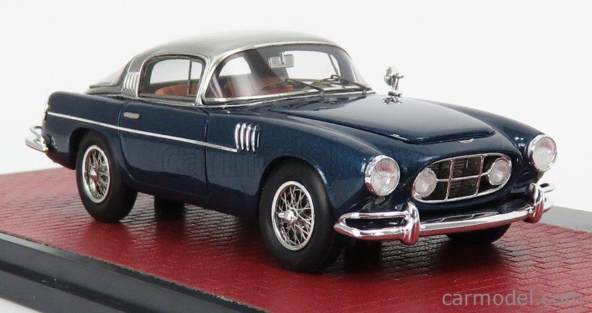 MATRIX SCALE MODELS MX50108-141 Echelle 1/43  ASTON MARTIN DB2/4 VIGNALE HRH KING BAUDOUIN 1954 BLUE SILVER