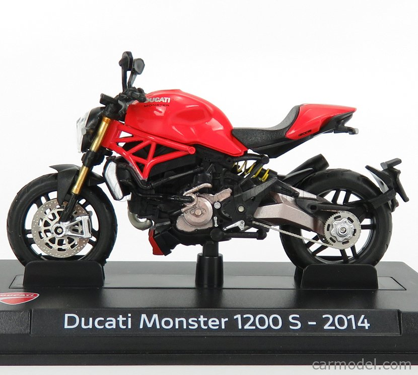 EDICOLA AHDUC003 Scale 1/24  DUCATI MONSTER 1200S 2014 RED BLACK