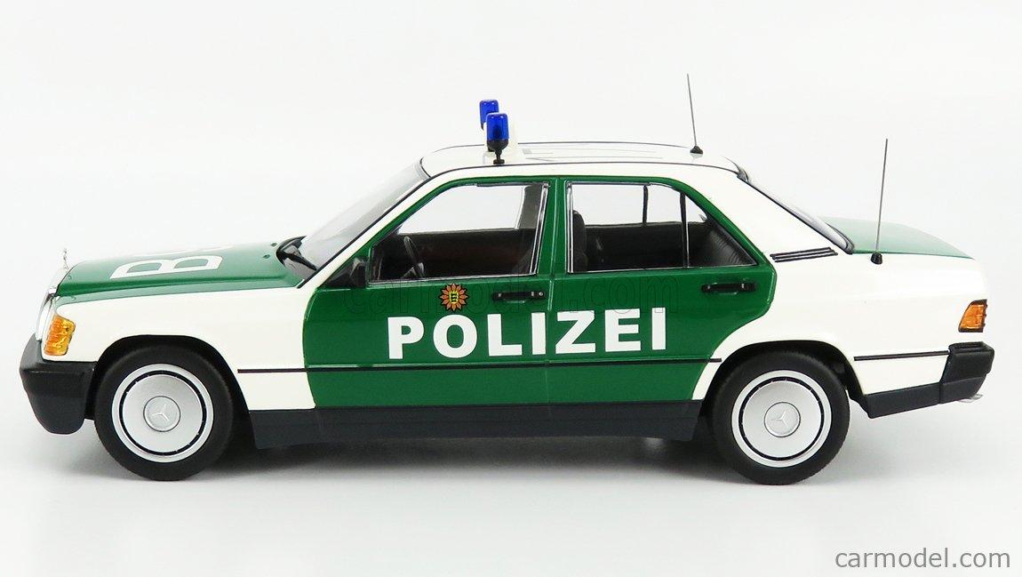 Minichamps 155037090 Mercedes-Benz 190E W201 1982-1989 Polizei Karlsruhe 1:18