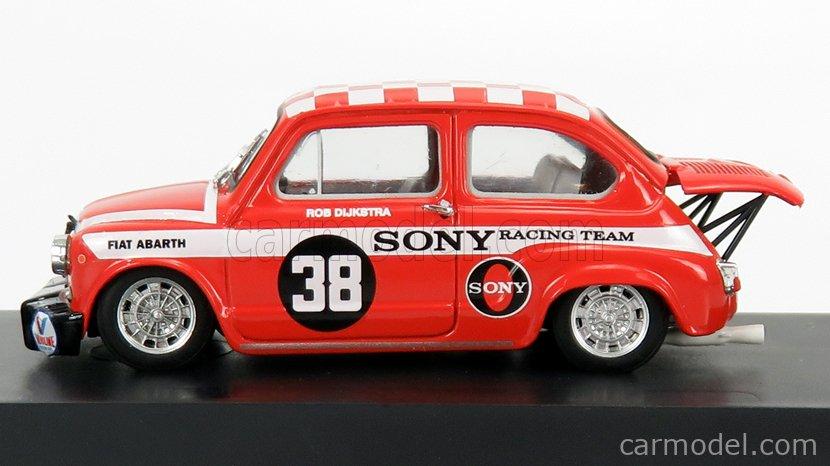 BRUMM R419-UPD2 Echelle 1/43  FIAT 600 ABARTH 1000 BERLINA TEAM SONY RACING N 38 WINNER ZANDWOORT TROPHY 1969 R.DIJKSTRA RED WHITE