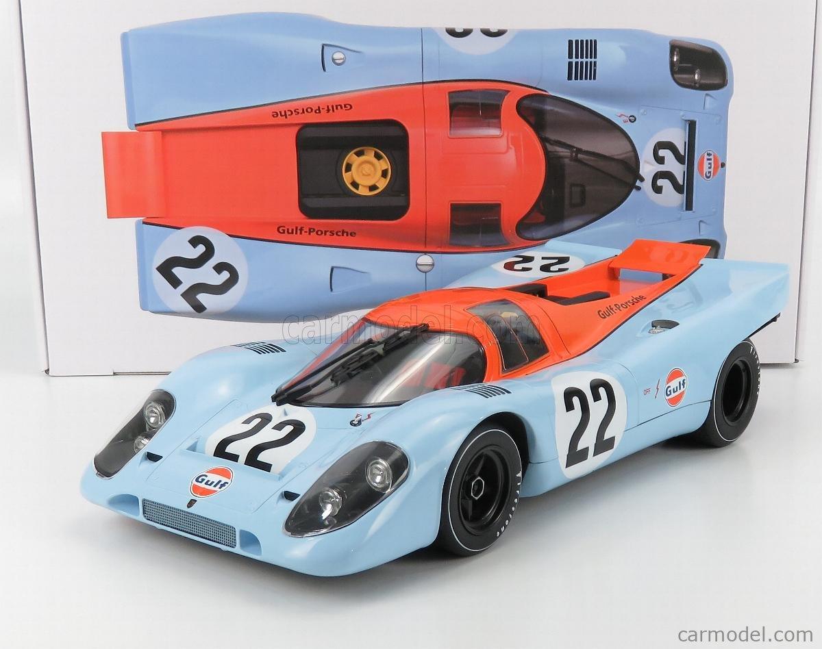 NOREV 127505 Scale 1/12  PORSCHE 917K TEAM JOHN WYER AUTOMOTIVE ENGINEERING GULF N 22 24h LE MANS 1970 D.HOBBS - M.HAILWOOD LIGHT BLUE ORANGE