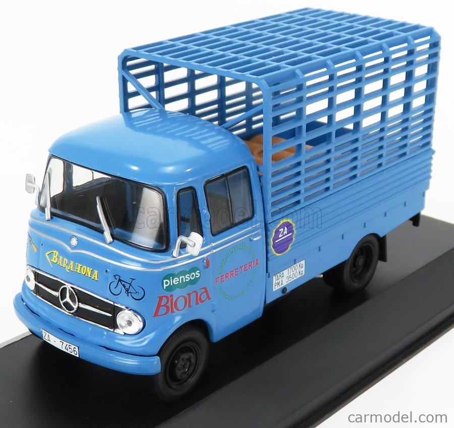 EDICOLA VEDEREPESP005 Масштаб 1/43  MERCEDES BENZ L319D TRUCK PIENSOS BIONA 1963 LIGHT BLUE