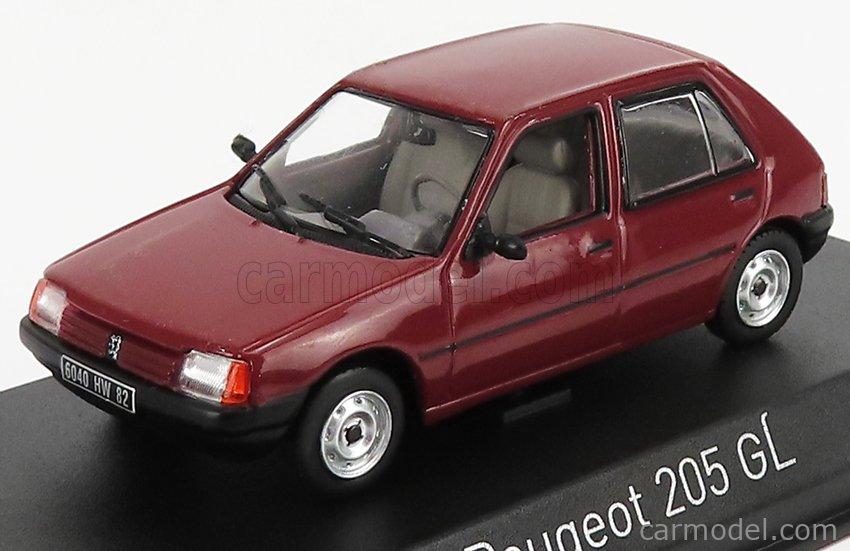 NOREV 471719 Scale 1/43  PEUGEOT 205 GL 1988 DARK RED