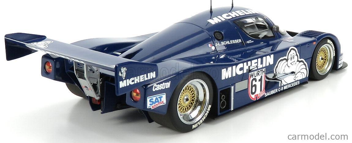 MINICHAMPS 155873581 Scale 1/18  SAUBER  C9 MERCEDES MICHELIN N 61 WINNER ADAC SUPERSPRINT 1987 J-L.SCHLESSER BLUE