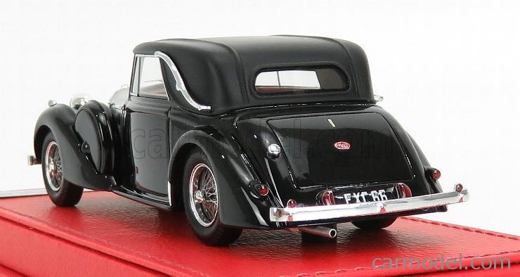 EVRAT EVR226 Masstab: 1/43  BUGATTI T57C s/n57787 CABRIOLET 1939 - PERSONAL CAR JAMES YOUNG BLACK