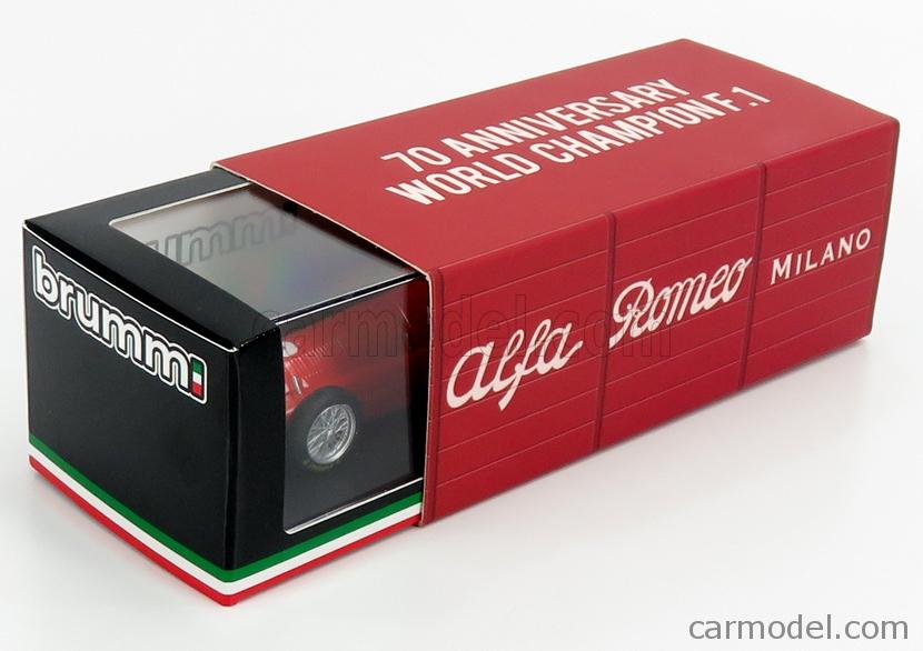 BRUMM R036B-UPD-2020 Echelle 1/43  ALFA ROMEO F1  158 N 2 WINNER GREAT BRITAIN EUROPE GP NINO FARINA 1950 WORLD CHAMPION RED
