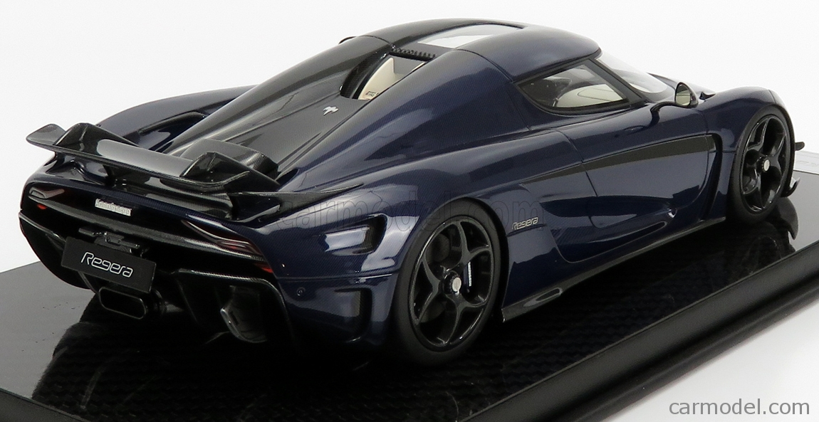 FRONTI-ART F071-152 Masstab: 1/18  KOENIGSEGG REGERA 2016 - CON VETRINA - WITH SHOWCASE DARK BLUE CARBON