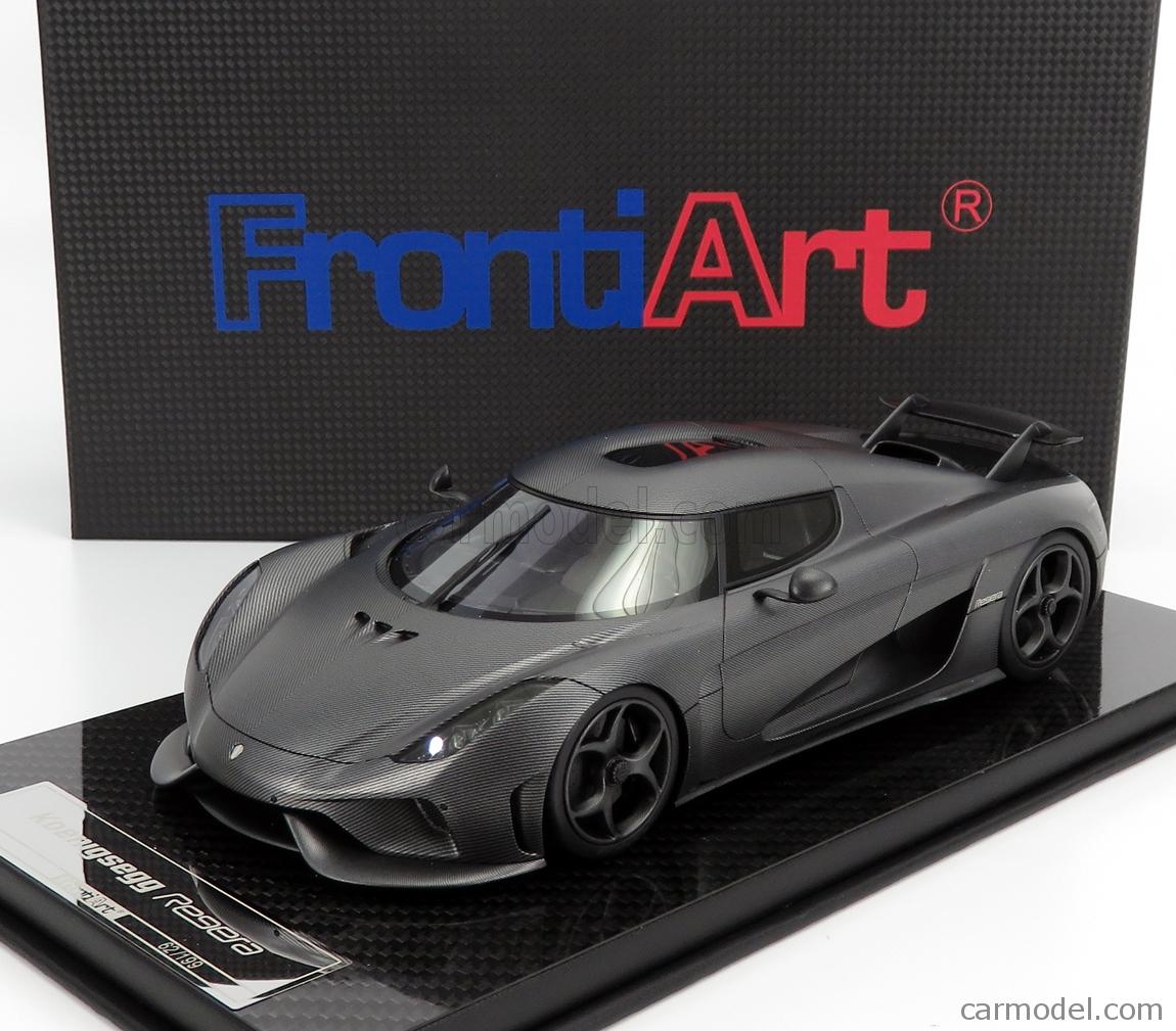 FRONTI-ART F071-149 Escala 1/18  KOENIGSEGG REGERA 2016 - CON VETRINA - WITH SHOWCASE NAKED CARBON