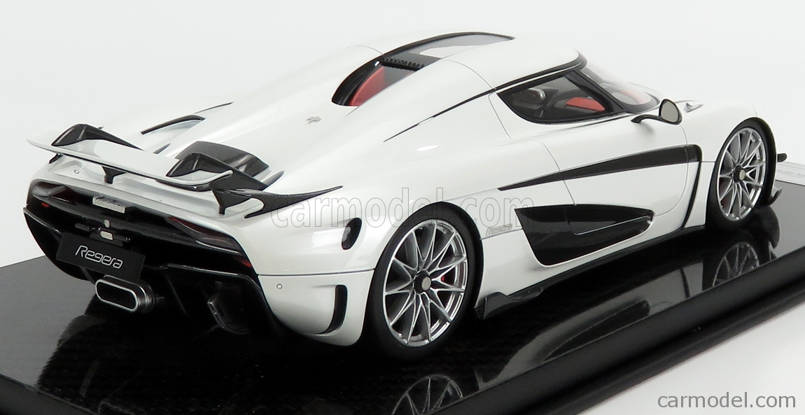 FRONTI-ART F071-29 Scala 1/18  KOENIGSEGG REGERA 2016 - CON VETRINA - WITH SHOWCASE WHITE PEARL MET