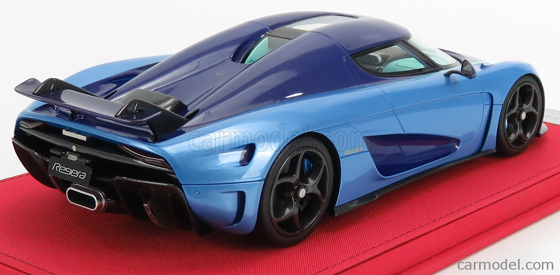 FRONTI-ART AS025-10 Scale 1/18  KOENIGSEGG REGERA 2016 - CON VETRINA - WITH SHOWCASE 2 TONE BLUE CARBON
