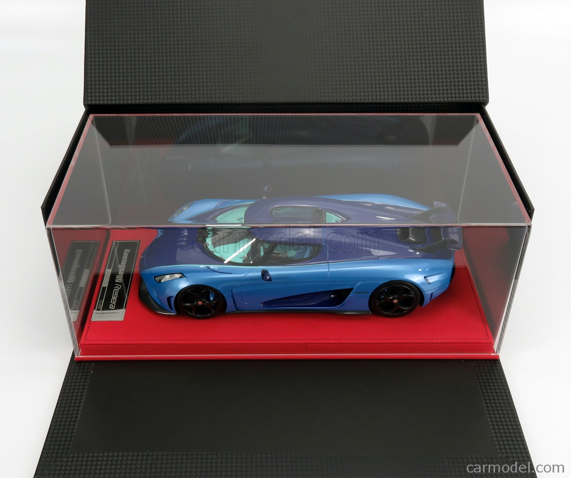 FRONTI-ART AS025-10 Escala 1/18  KOENIGSEGG REGERA 2016 - CON VETRINA - WITH SHOWCASE 2 TONE BLUE CARBON