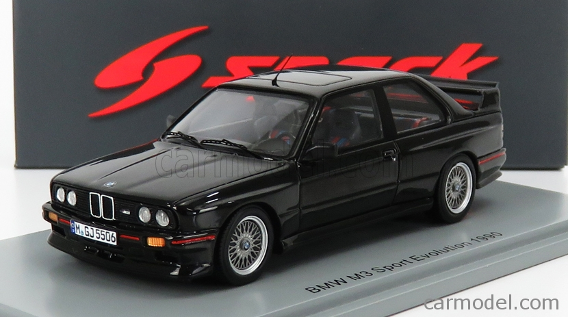 SPARK s8001 bmw m3 e30 Sport Evolution 1990 Noir Black 1:43