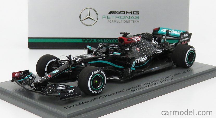 SPARK-MODEL S6477 Echelle 1/43  MERCEDES GP F1  W11 EQ PERFORMANCE TEAM AMG PETRONAS MOTORSPORT N 44 WINNER SILVERSTONE GP LEWIS HAMILTON 2020 WORLD CHAMPION BLACK