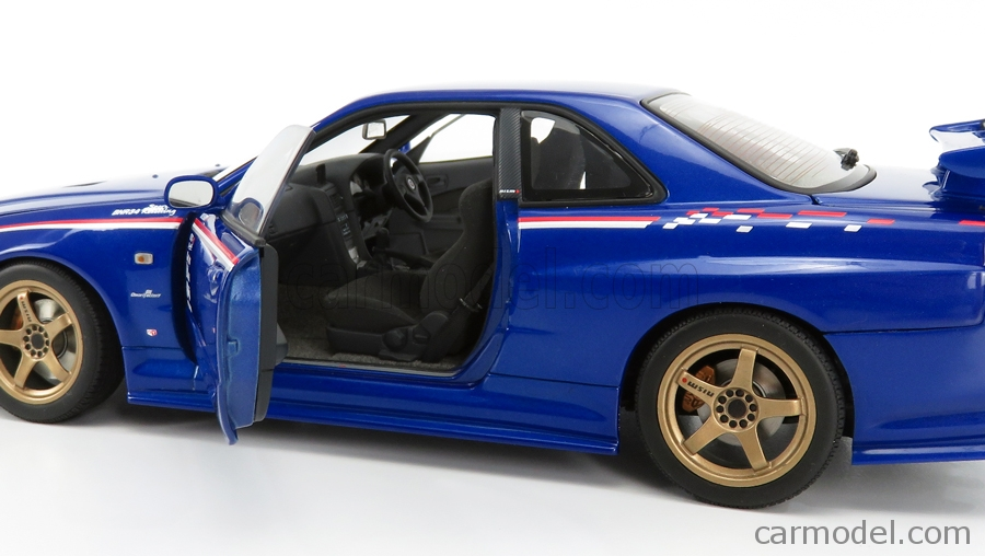 AUTOART 77359 Scale 1/18  NISSAN SKYLINE GT-R (R34) NISMO SPORT RESETTING VERSION 2007 BLUE