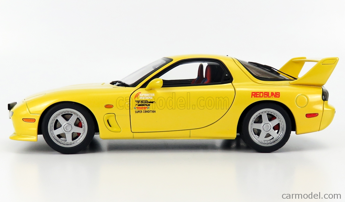 AUTOART 75966 Scale 1/18  MAZDA EFINI RX-7 (FD3S) NEW ANIMATION FILM INITIAL D LEGEND 1 COUPE 1991 YELLOW