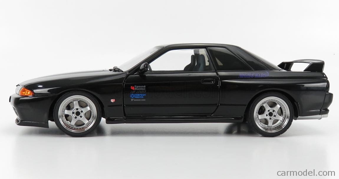 AUTOART 77419 Scale 1/18  NISSAN SKYLINE GT-R (R32) V-SPEC II NEW ANIMATION MOVIE INITIAL D LEGEND 2 1991 BLACK