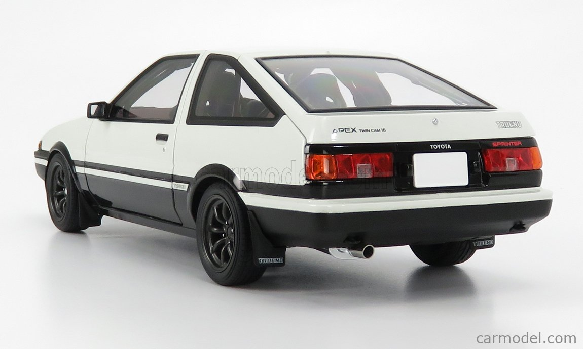 AUTOART 78799 Scale 1/18  TOYOTA SPRINTER TRUENO (AE86) PROJECT D FINAL VERSION 1980 WHITE BLACK