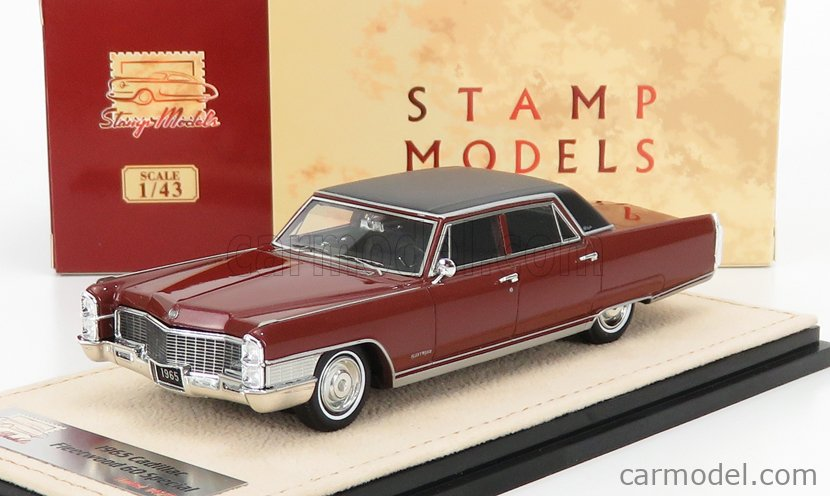 STAMP-MODELS STM65203 Scale 1/43  CADILLAC FLEETWOOD 60 SPECIAL 1965 MATADOR RED POLY