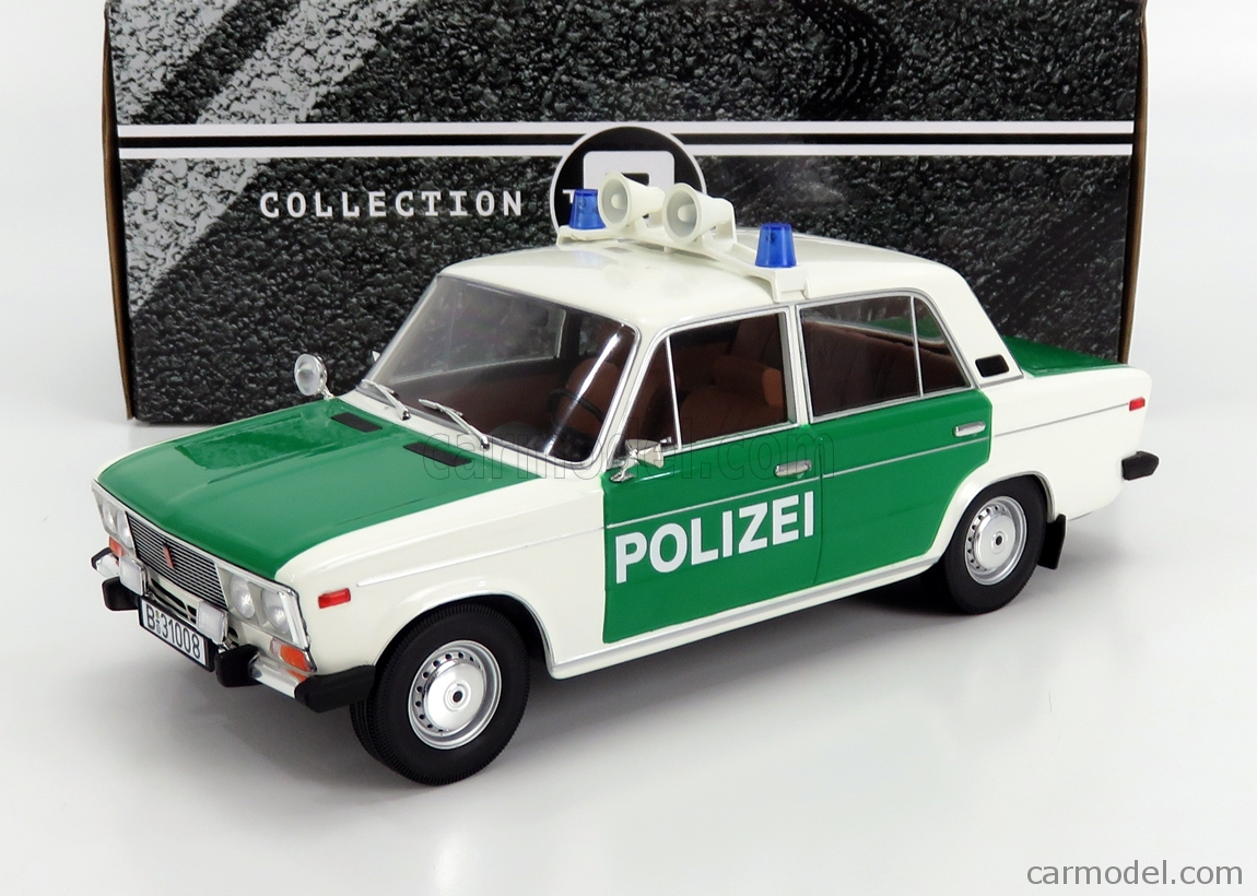 TRIPLE9 T9-1800245 Scale 1/18  LADA FIAT 2106 POLIZEI 1976 GREEN WHITE