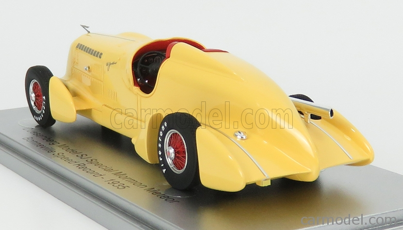 KESS-MODEL KE43055012 Scale 1/43  DUESENBERG MODEL SJ SPECIAL MORMON METEOR BONNEVILLE SPEED-RECORD 1935 YELLOW