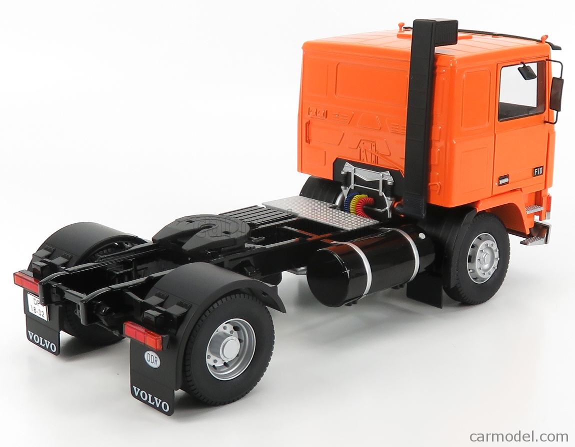 ROAD-KINGS RK180035 Scale 1/18  VOLVO F10 TURBO 6 TRACTOR TRUCK 2-ASSI WITH DECAL SET 1977 ORANGE BLACK