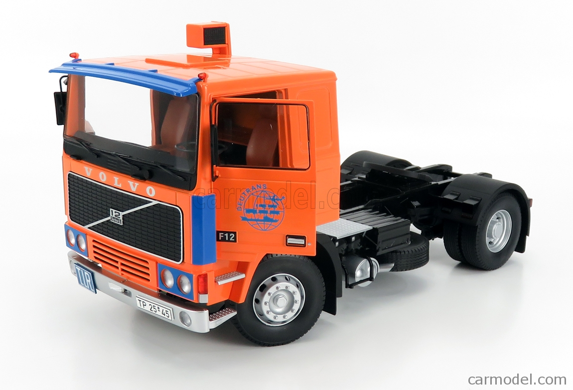 ROAD-KINGS RK180034 Scale 1/18  VOLVO F12 TURBO 6 TRACTOR TRUCK 2-ASSI 1977 ORANGE BLUE