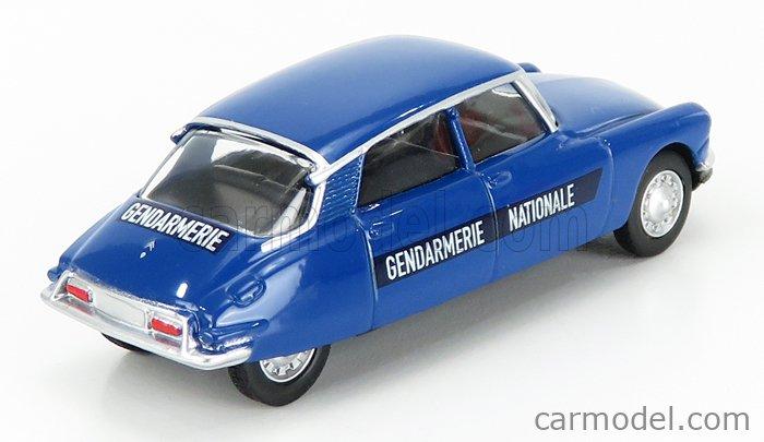 NOREV 319250-319251 Scale 1/64  CITROEN DS19 GENDARMERIE NATIONALE 1956 BLUE