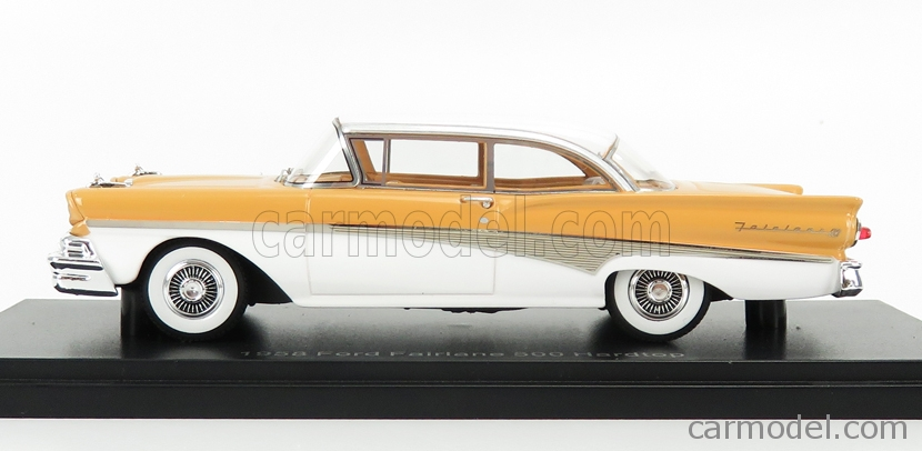 NEO SCALE MODELS NEO47265 Scale 1/43  FORD USA FAIRLANE 500 HARD-TOP 1958 LIGHT BROWN WHITE